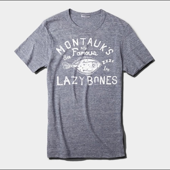 5763e066 Tops | Montauk Mainstay Gray Unisex Lazy Bones Tshirt | Poshmark